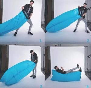 cama hinchable lazy bag