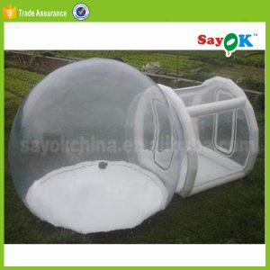 carpa transparente hinchable