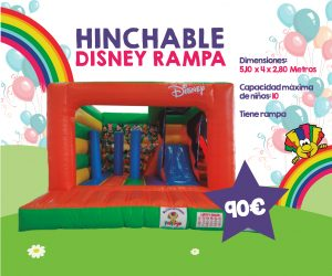 castillo hinchable disney
