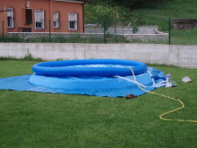 piscina hinchable blanca