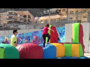 wipeout hinchable